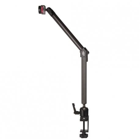 Support Tablette Fixation Fauteuil Roulant à 2 Bras Longs - The Joy Factory - Fibre de carbone - MMU109