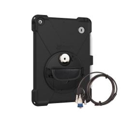 Protection Renforcée Sécurisée Compatible iPad 10.2 - The Joy Factory - avec Dragonne - Norme IP64 - Noir - CWA633KL