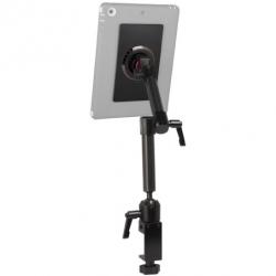 Support fixation fauteuil roulant à 2 bras longs avec module adhésif pour tablette