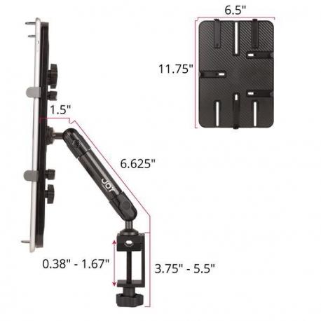 Support fixation etau sur tube à bras unique