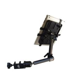 Support fixation fauteuil roulant à 2 bras longs - Tablettes fines 7-11 pouces