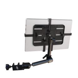 Support fixation fauteuil roulant à 2 bras longs - Tablettes épaisses 7-12 pouces