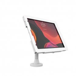 "Elevate II Flex Drill Down Countertop Mount Kiosk for iPad Pro 12.9"" 4th Gen (White)"