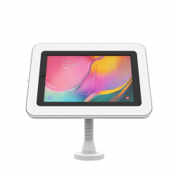Elevate II Flex Drill Down Countertop Kiosk for Galaxy Tab A 10.1 (2019) (White)