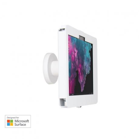 Support sécurisé stand Mural - Surface Go - Blanc