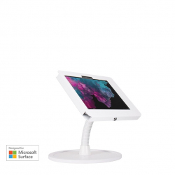 Stand comptoir bras flexible - Surface Go - Blanc