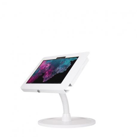 Stand comptoir bras flexible - Surface Go - Blanc