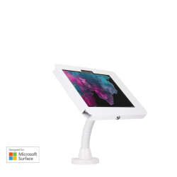 Elevate II Flex Drill Down Countertop Kiosk for Surface Go | Go 2 (White)