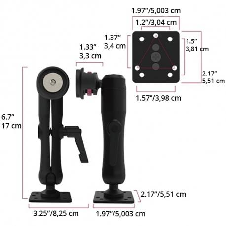 Support à bras unique - Surface plate norme AMPS