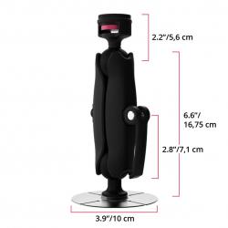 Support Adhésif à bras unique - joint de base 38mm