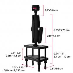 Support Chariot Elévateur fixation sur Poteau (largeur max 7.62cm)
