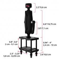 Support Chariot Elévateur fixation sur Poteau (largeur max 7.62cm) - Joint 38mm